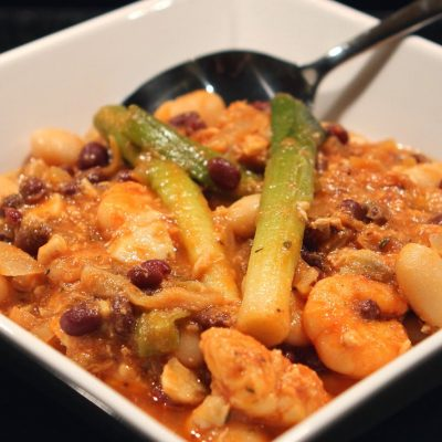 Fish & Bean Stew : warming and perfect for winter