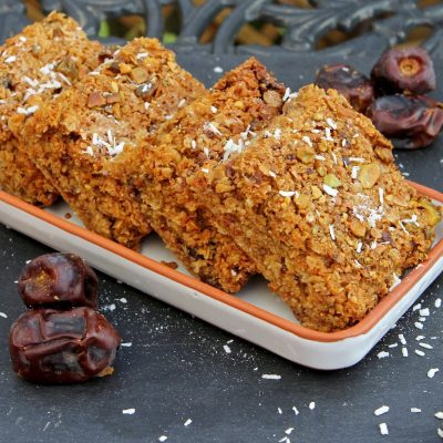 Date, Apricot & Coconut Flapjack