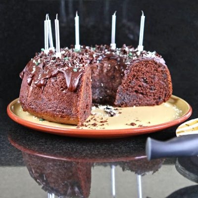 Miss GF's Chocolate Birthday Bundts – gluten free (One for Family….. One for Friends….)