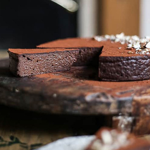 Sweet Potato Chocolate Truffle Torte  from From The Larder - delicious flourless desserts.