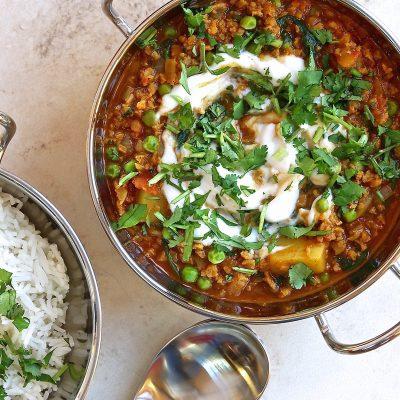 "Vegan Keema Recipe with Peas (""Keema Matar"")"