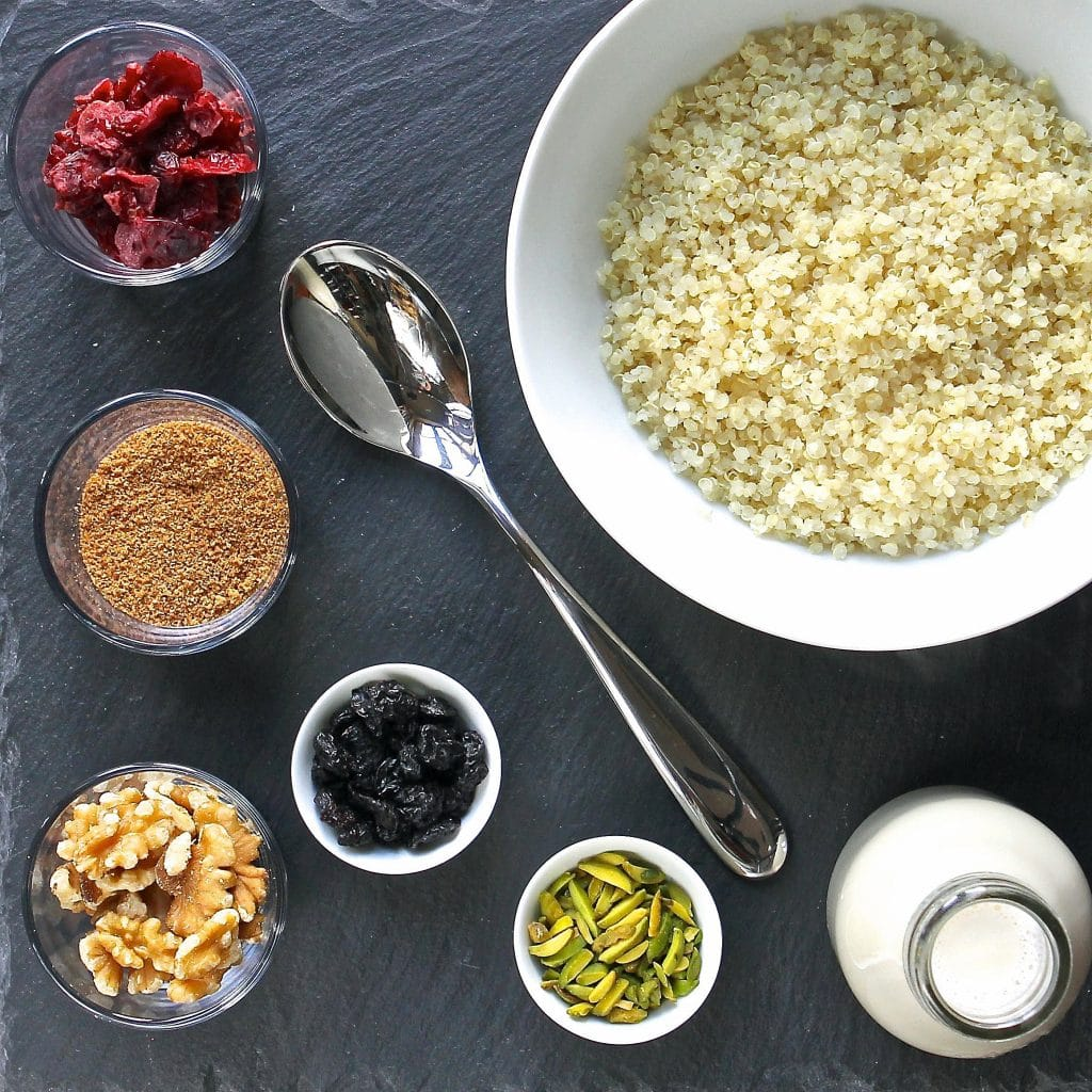 making-quinoa-breakfast-bowl