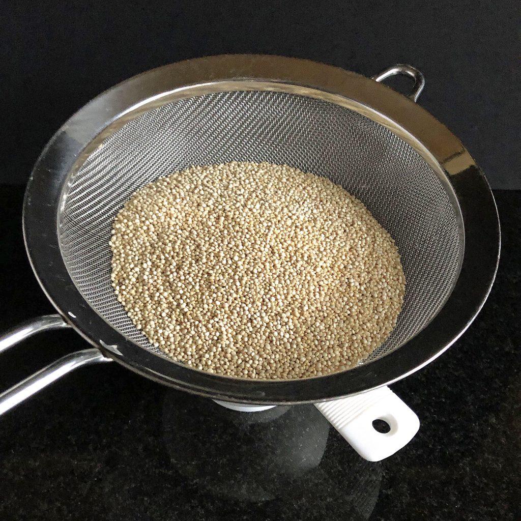 quinoa-in-sieve