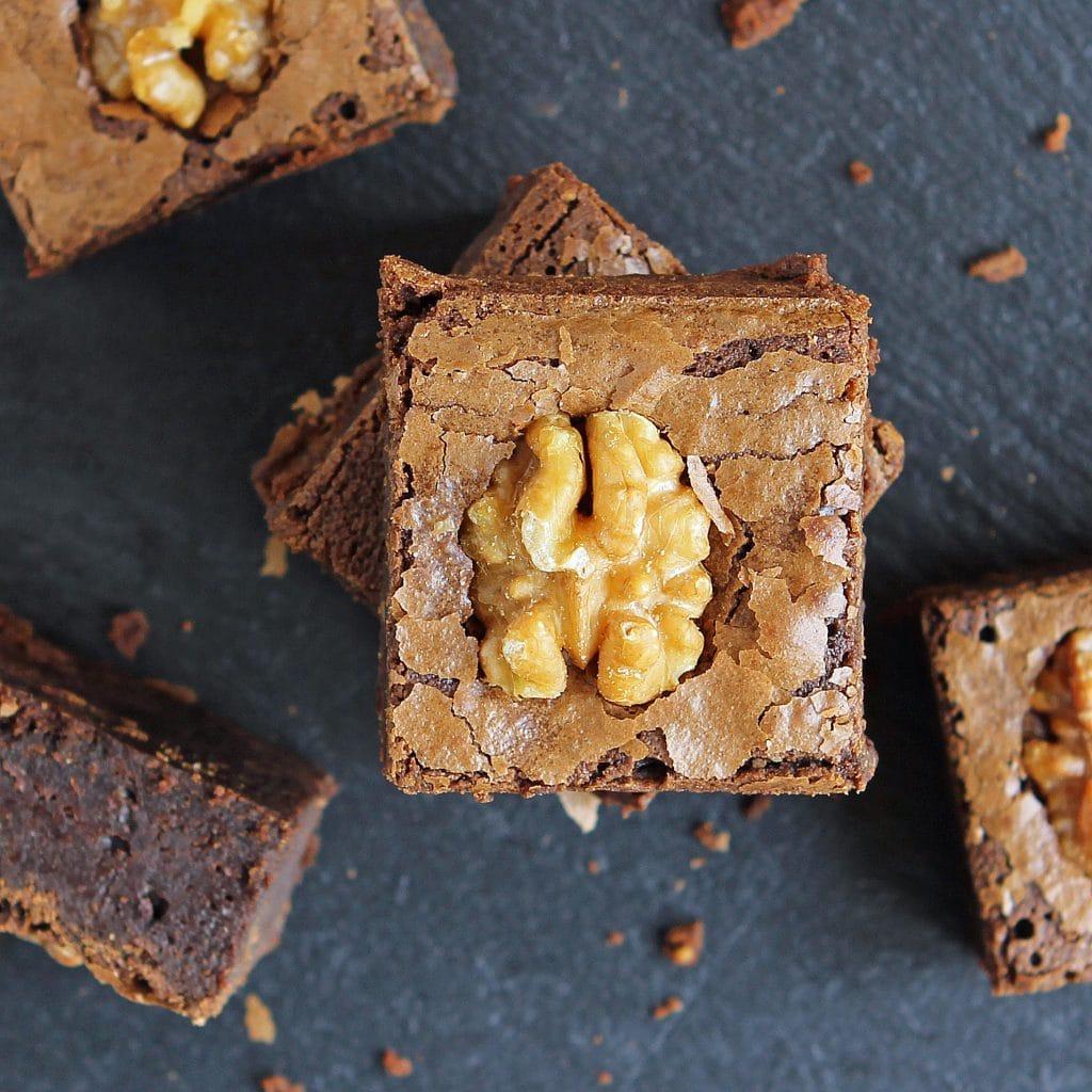 gooey-coffee-brownie-stack