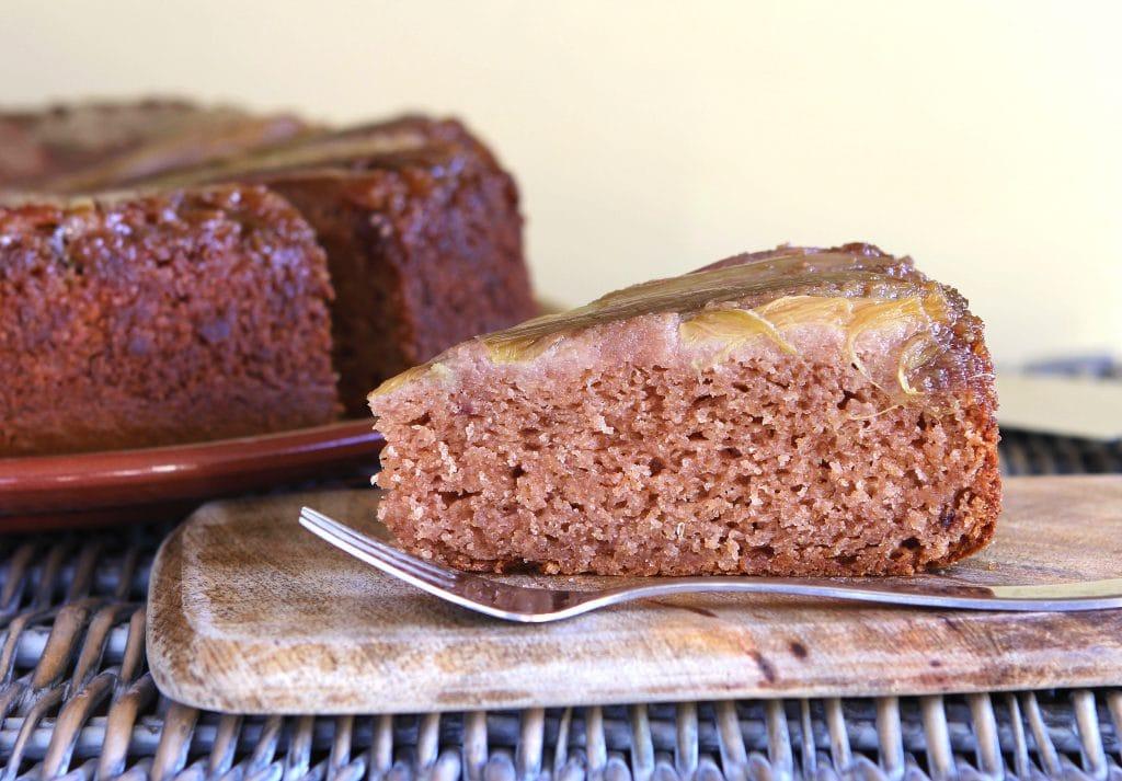 slice-gluten-free-rhubarb-upside-down-cake