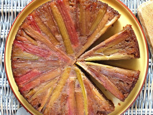 Rhubarb Upside Down Cake With Gluten Free Strawberry Almond Sponge