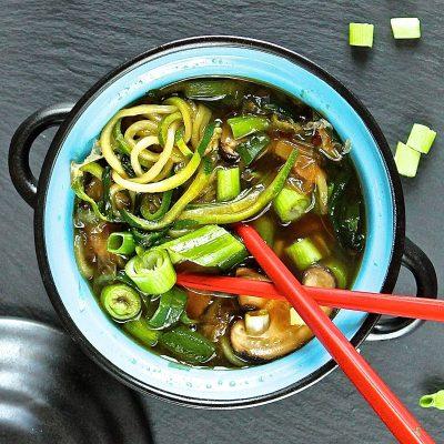 Oriental Courgette Noodles Soup
