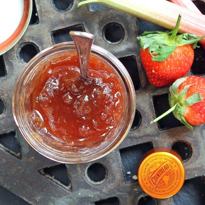 Easy Rhubarb Strawberry Jam with Cointreau