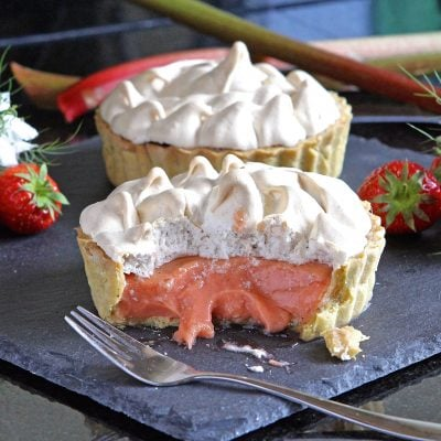 Rhubarb and Strawberry Meringue Pie & the Wonder of Eggs