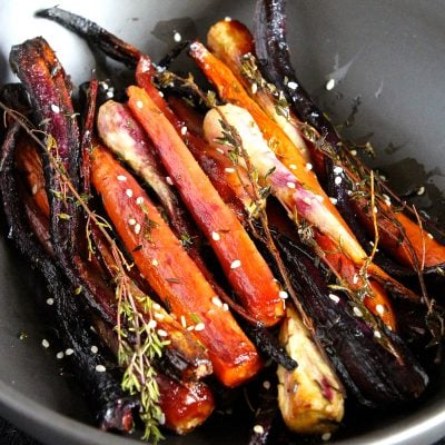 Spring Carrots & Parsnips – Roasted with Honey & Thyme