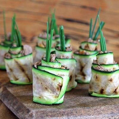 Zucchini Roll Ups (Courgette) – or Zucchini Sushi