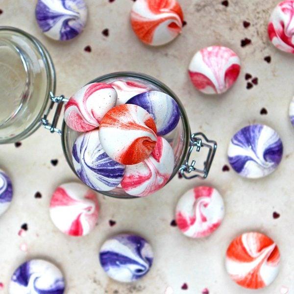 Mini Meringue Bites in a Jar