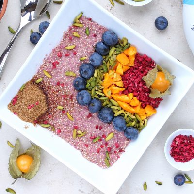 Quinoa Rainbow Breakfast Bowl