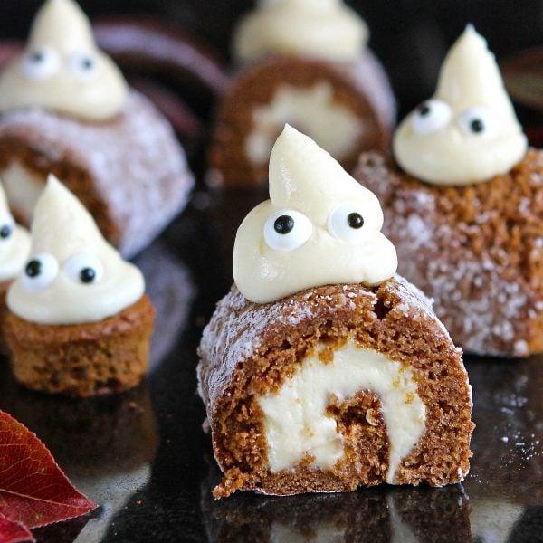 Pumpkin Mini Rolls – gluten free (A Halloween Ghostly Gathering)