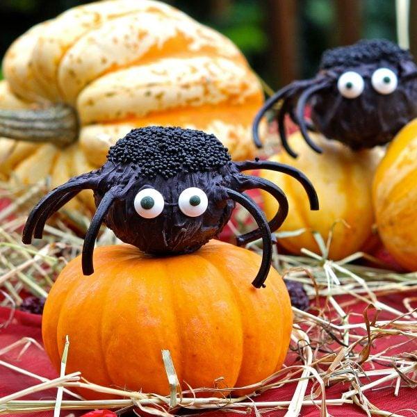 Halloween Cake Pop Spiders