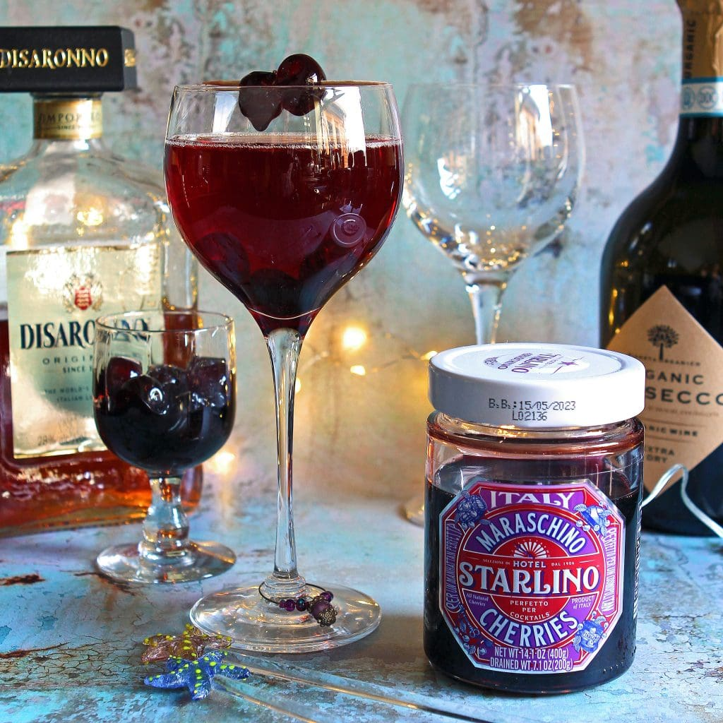 cherry-bakewell-prosecco-cocktail