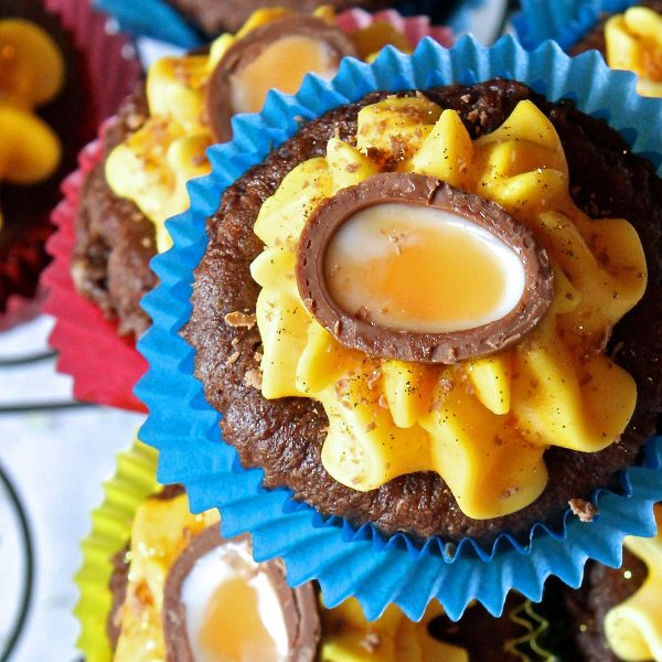 Creme Egg Cupcakes – Gluten Free